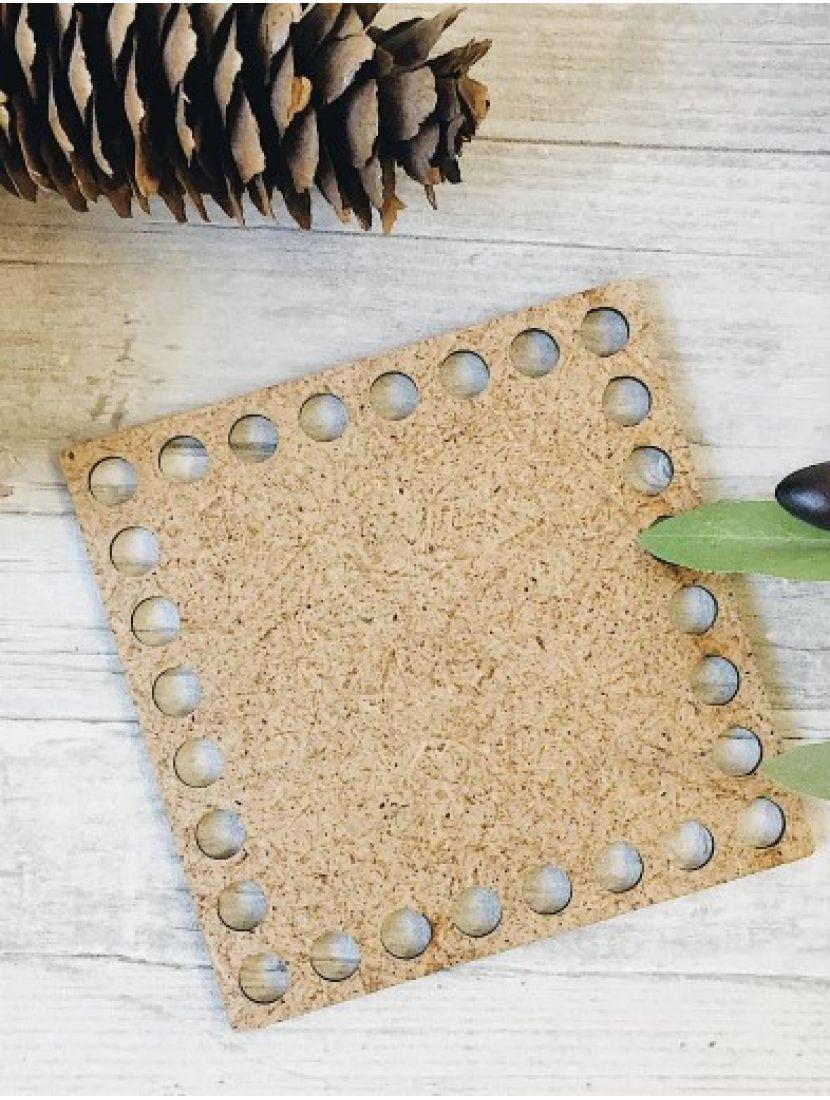 Донышко для вязания «Квадрат» МДФ, 10 см
