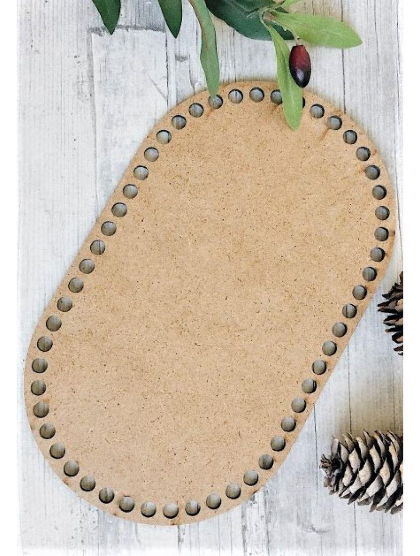Донышко для вязания «Прямоугольник с закруглением» МДФ, 25*15 см