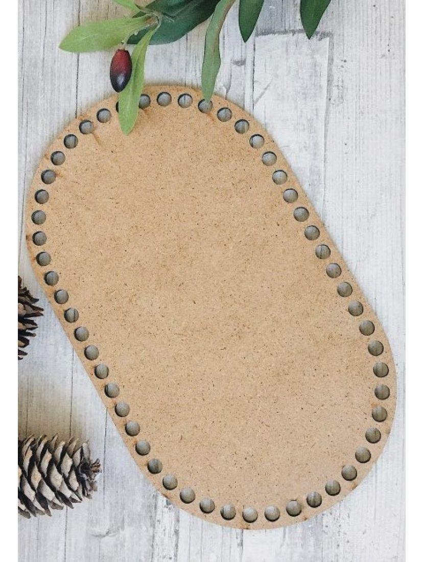 Донышко для вязания «Прямоугольник с закруглением» МДФ, 20*13 см