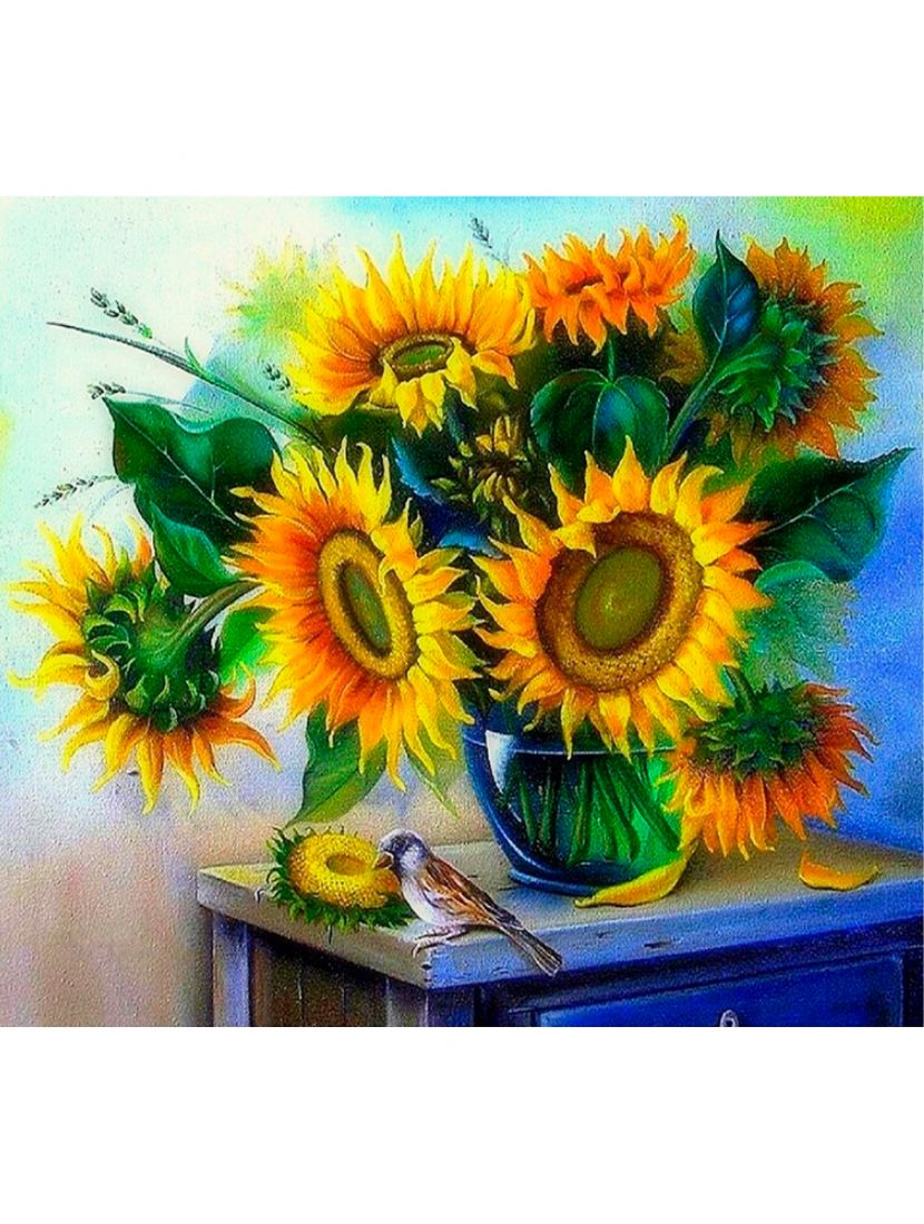 Картина по номерам «Букет подсолнухов»