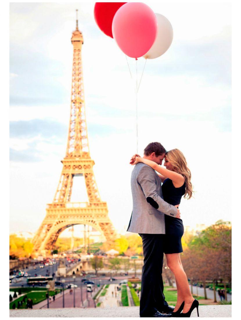 Картина по номерам «Влюблённые в Париже»