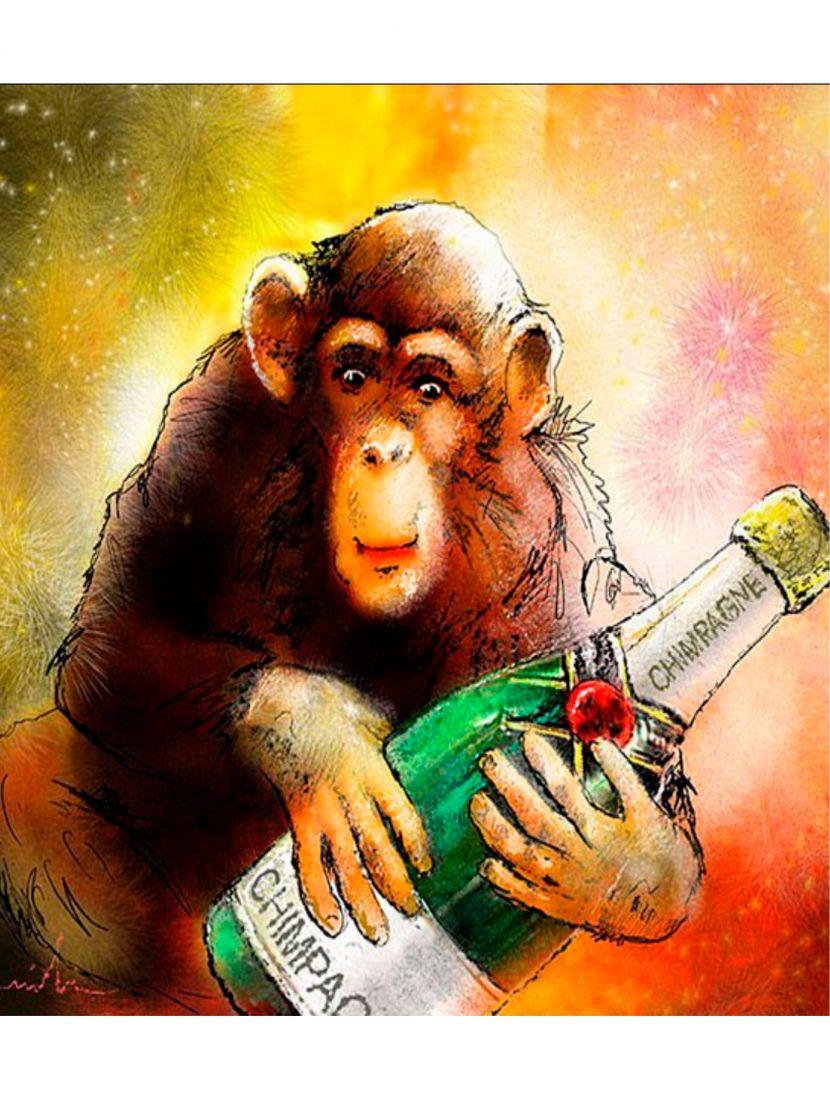 Картина по номерам «Весёлая обезьяна»