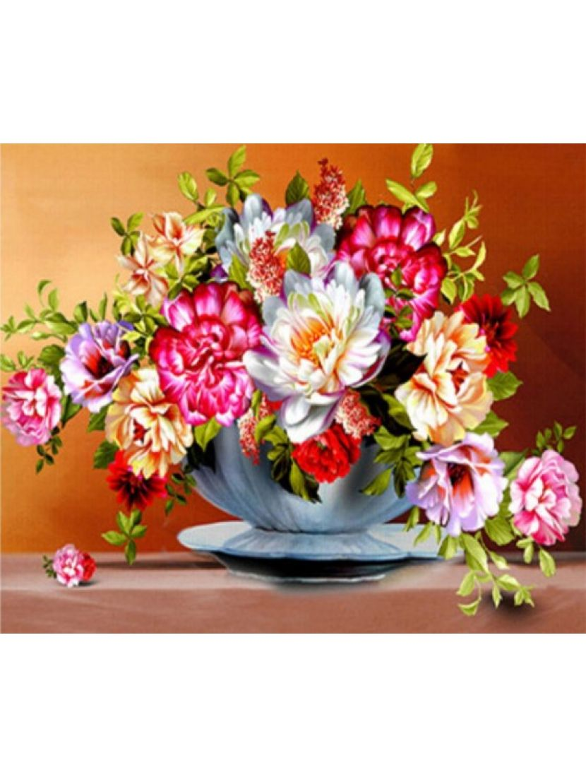 Картина по номерам  на подрамнике «Щупальца цветочных ароматов»