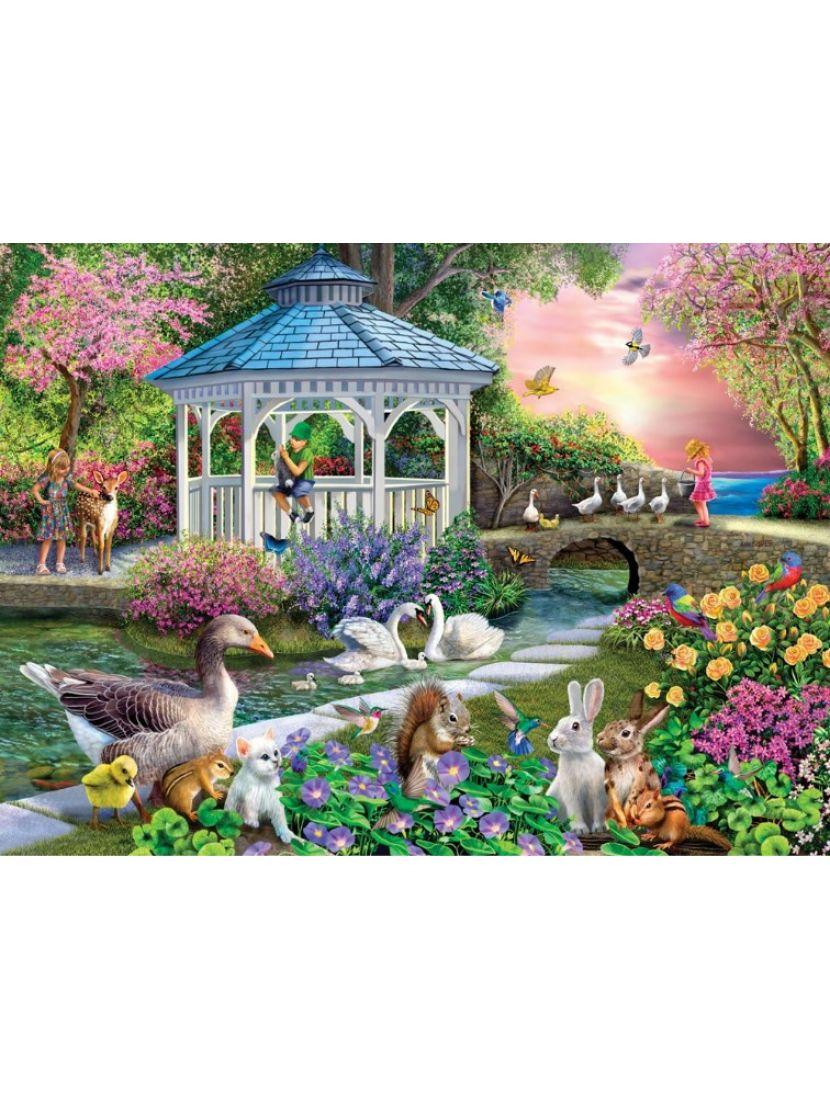 Картина по номерам  на подрамнике «Чудесный сад»