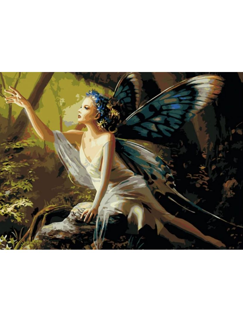 Картина по номерам  на подрамнике «Лесная фея»