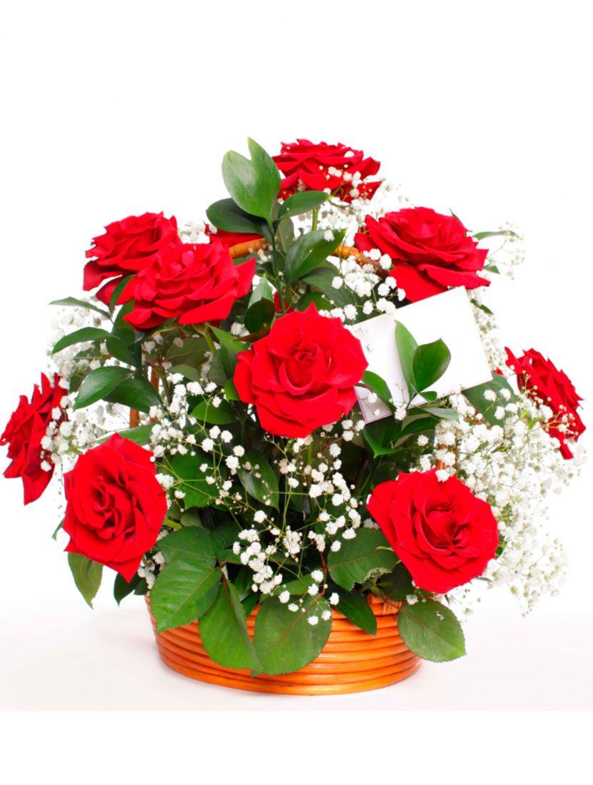 Картина по номерам  на подрамнике «Букет из красных роз»