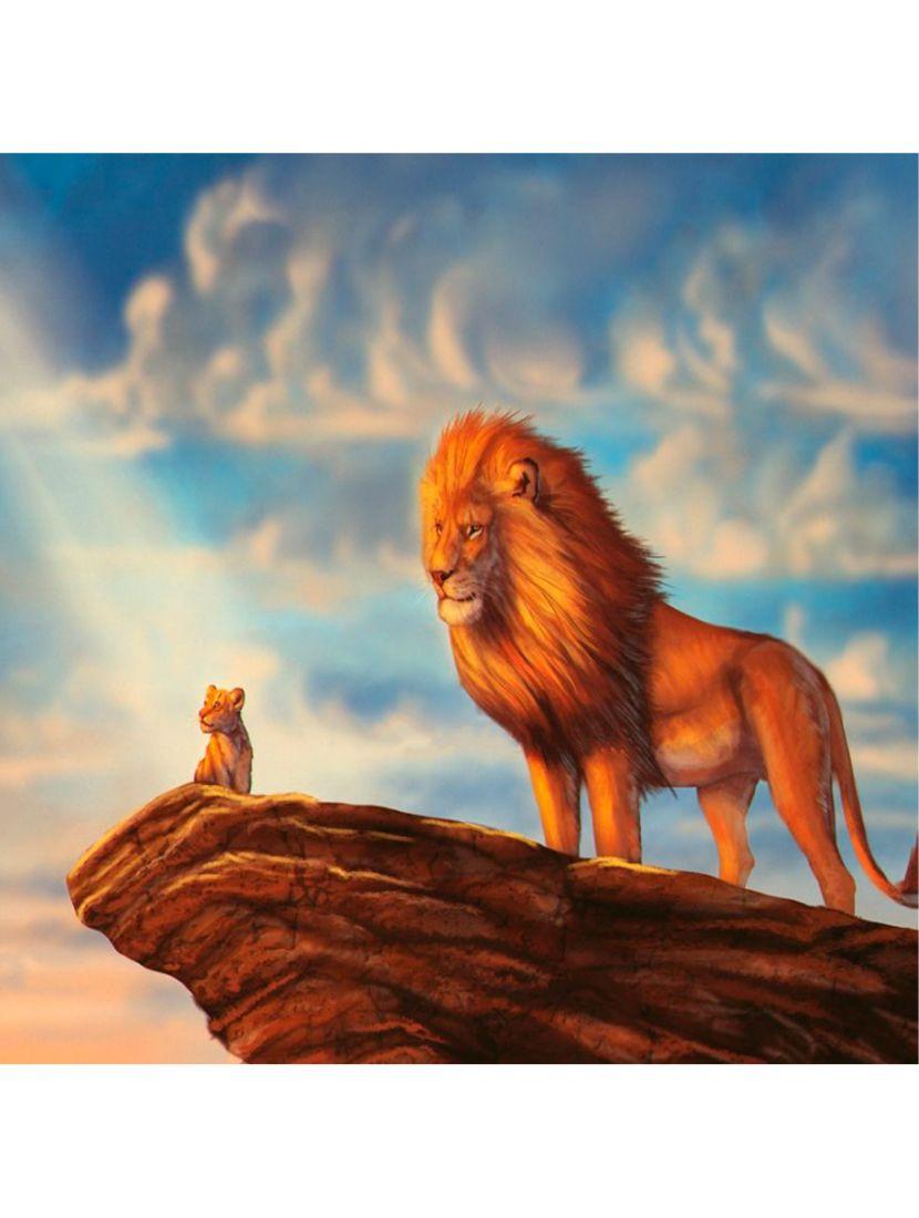 Картина по номерам  на подрамнике «Король Лев»