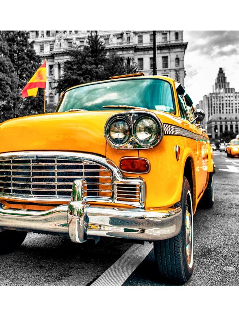 Картина по номерам  на подрамнике «Ретро такси»