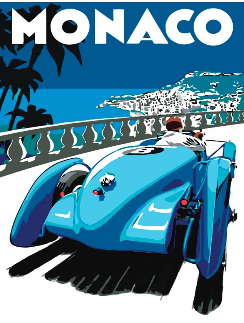 Картина по номерам  на подрамнике «Заезд в Монако»