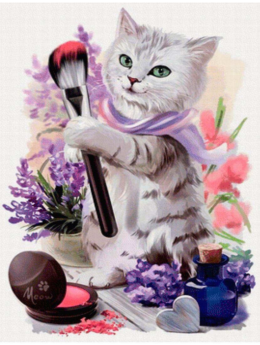 Картина по номерам  на подрамнике «Кошечка Лорри»