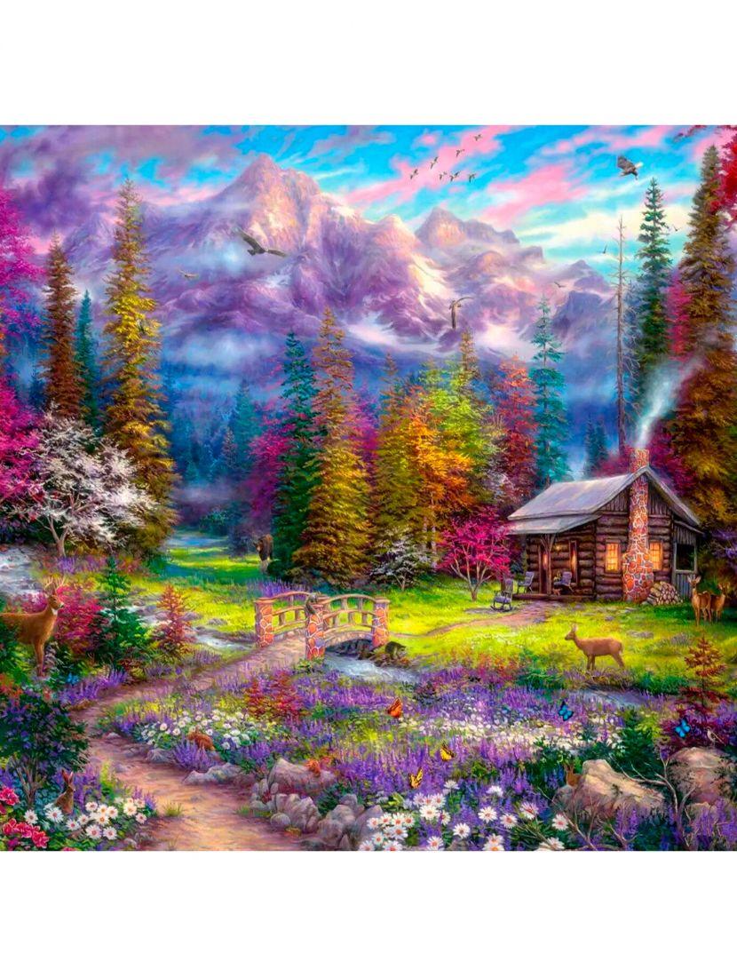 Картина по номерам  на подрамнике «Сказочный пейзаж»