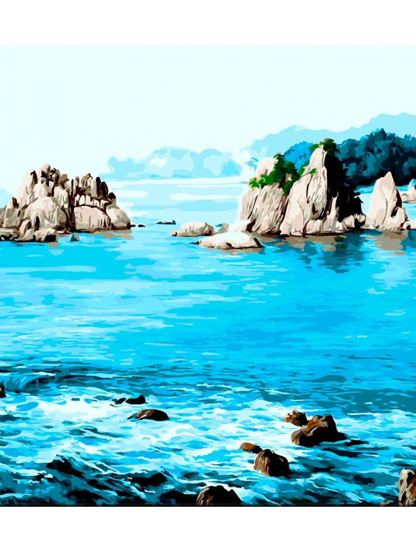 Картина по номерам  на подрамнике «Морской пейзаж»