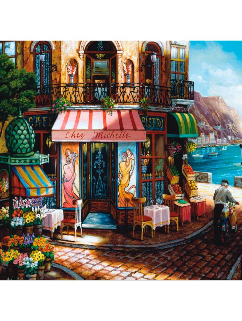 Картина по номерам  на подрамнике «Кафе ресторан»