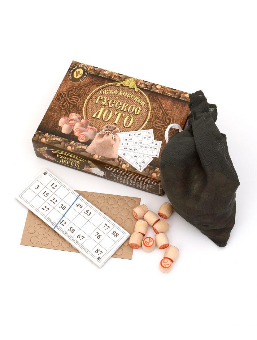 Русское лото «Объедовское» в коричневой картонной коробке