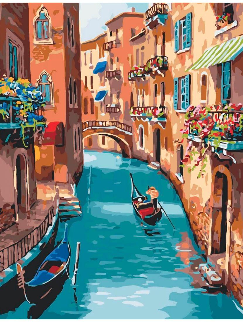 Картина по номерам  на подрамнике «Венеция»
