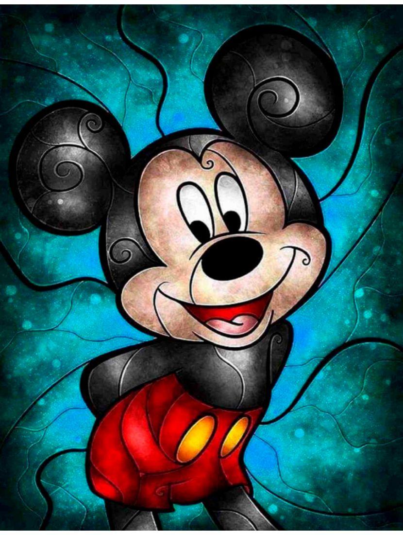 Алмазная мозаика на подрамнике «Микки Маус»