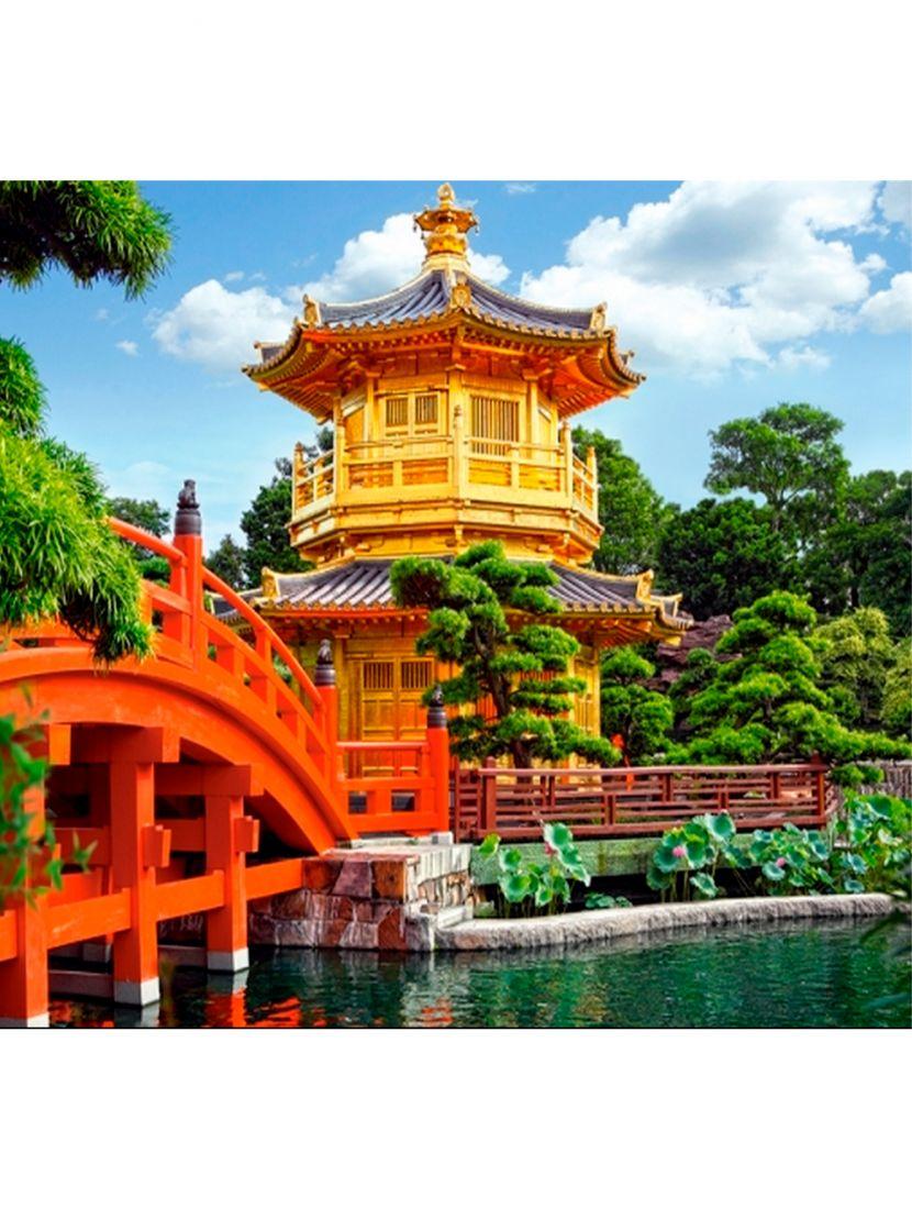 Алмазная мозаика на подрамнике «Китайский парк»