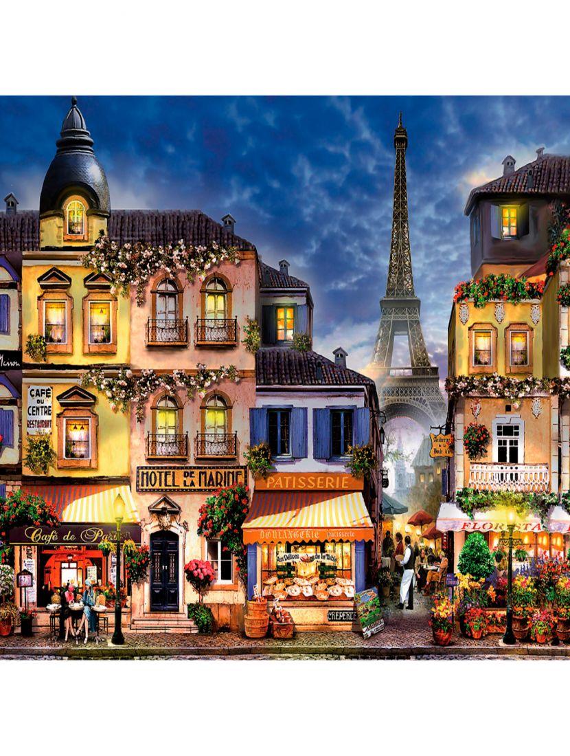 Алмазная мозаика на раме со стеклом « Прекрасный Париж» подарочный вариант