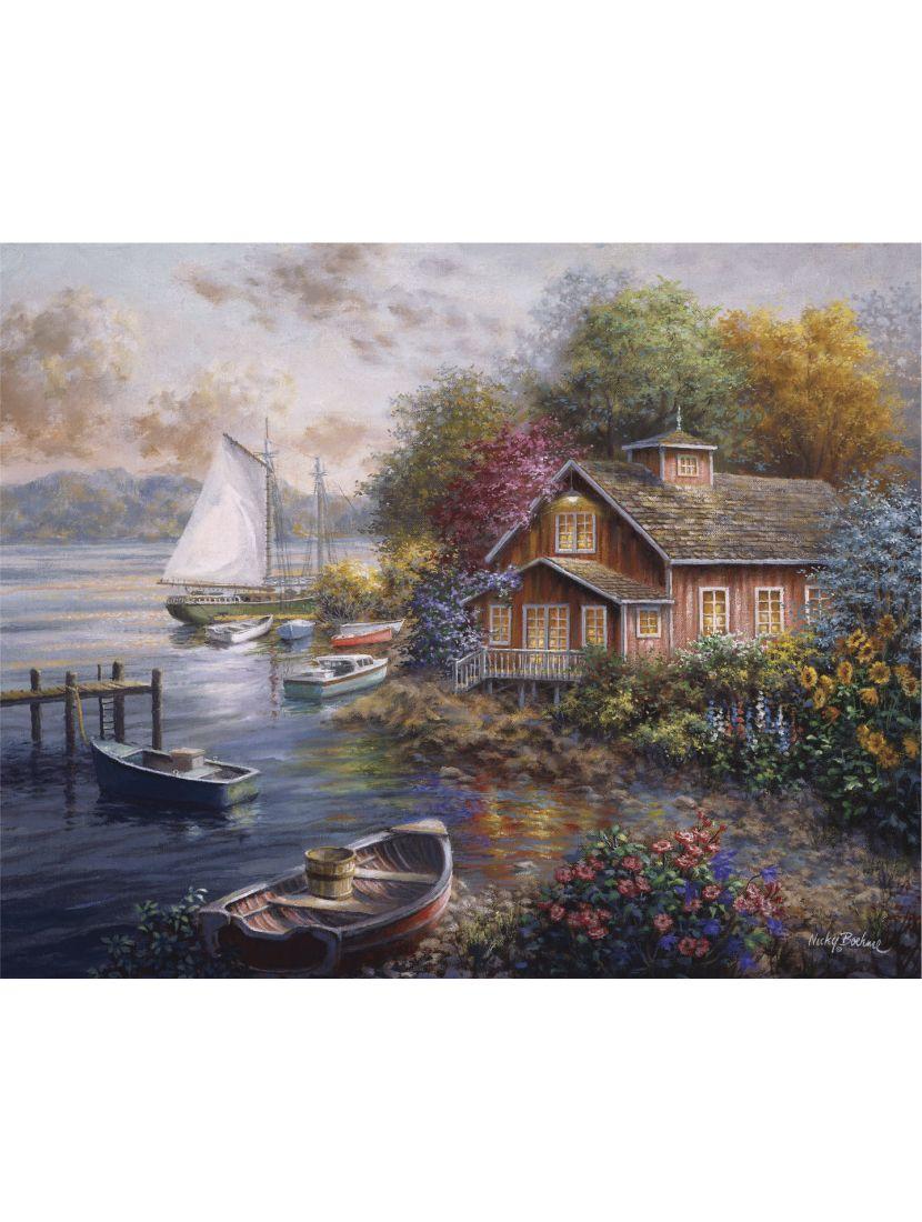 Картина по номерам на подрамнике «Дом рыбака»