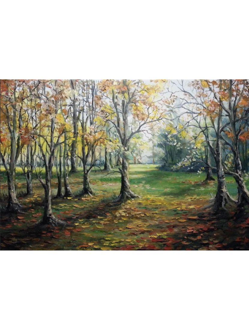 Картина по номерам на подрамнике «Осенняя роща»