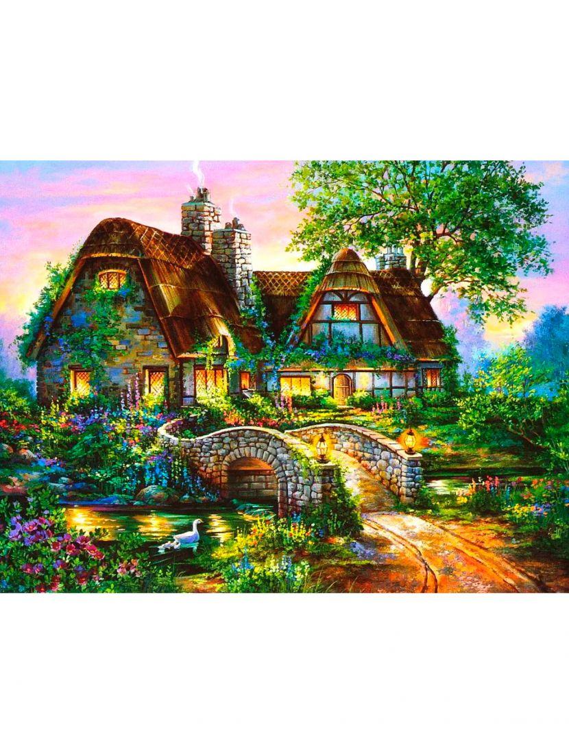 Алмазная мозаика «Домик в саду»