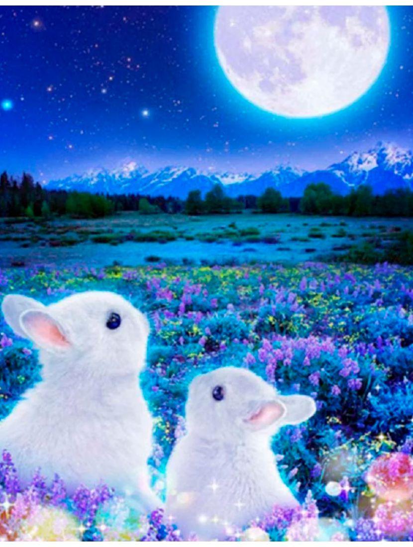 Алмазная мозаика «Лунные кролики»