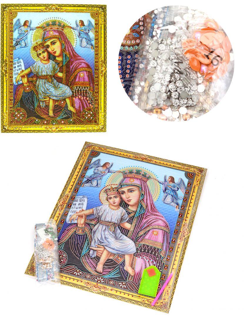 """Алмазная мозаика на подрамнике """"Божией Матери Достойно Есть"""" икона"""