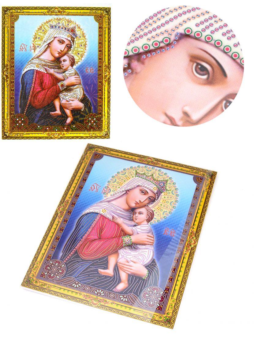 """Алмазная мозаика на подрамнике """"Божией Матери Отчаянных Единая Надежда"""" икона"""