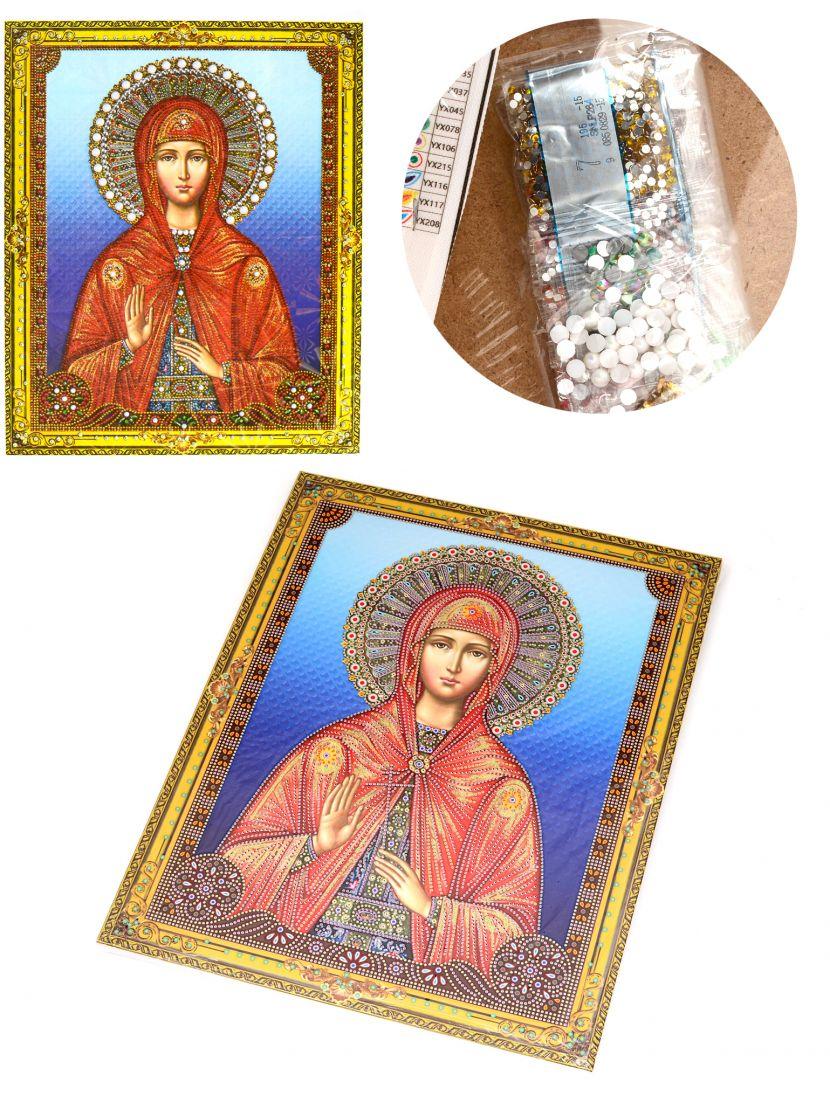"""Алмазная мозаика на подрамнике """"Святая Валентина"""" икона"""