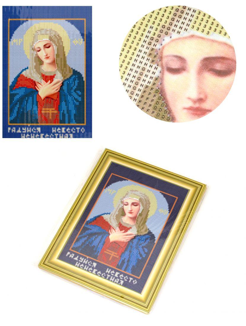 """Алмазная мозаика на подрамнике """"Божией Матери Умиление"""" икона"""