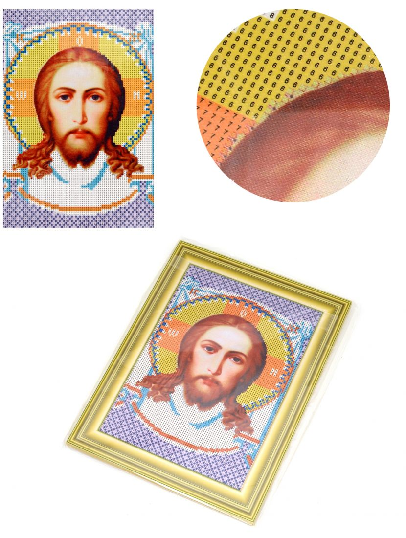 """Алмазная мозаика на подрамнике """"Ангел Хранитель"""" икона"""