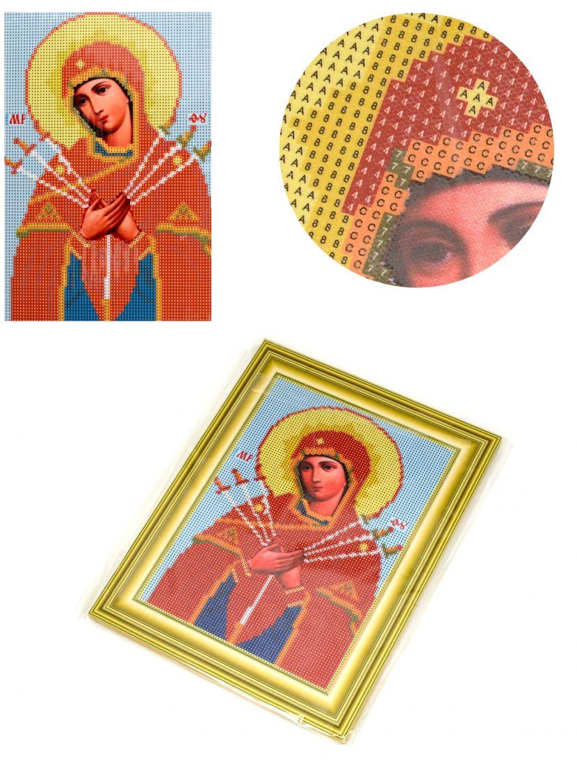 """Алмазная мозаика на подрамнике """"Божией Матери Умягчения Злых Сердец"""" икона"""