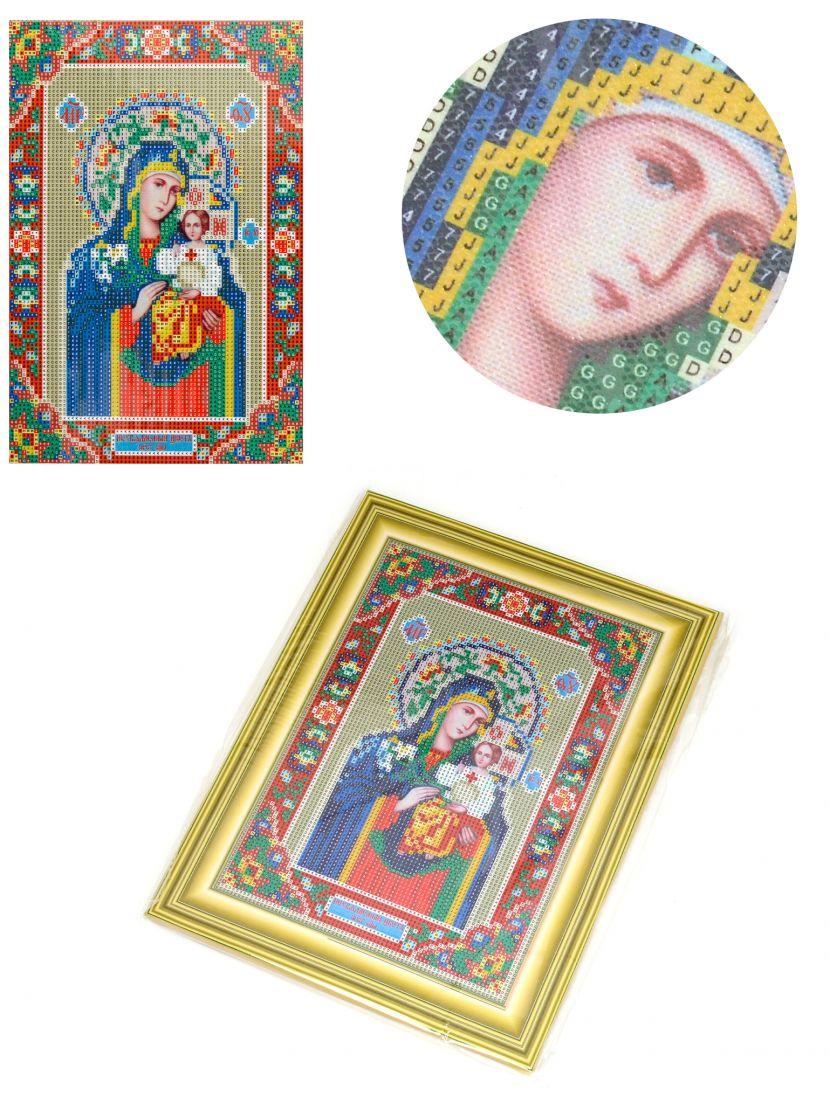 Алмазная мозаика на подрамнике «Божией Матери Неувядаемый Цвет» икона