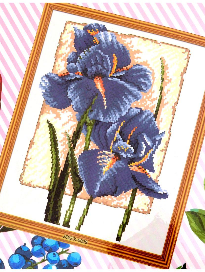 Набор для вышивания крестом «Синие ирисы»