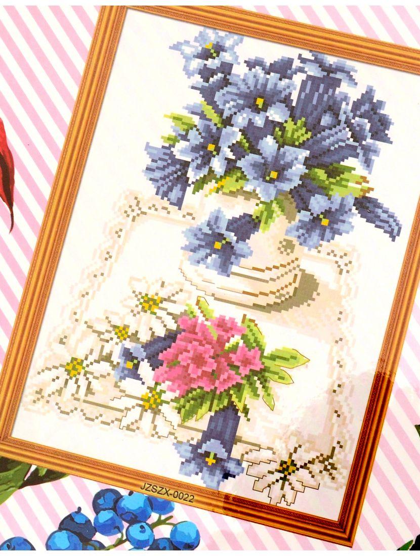 Набор для вышивания крестом «Загородный букет»