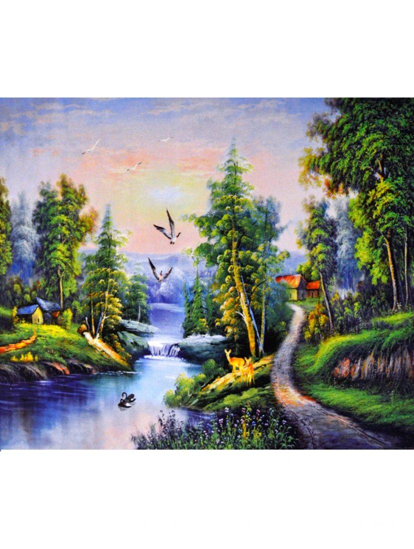 Алмазная мозаика на подрамнике «Страна нехоженых троп»