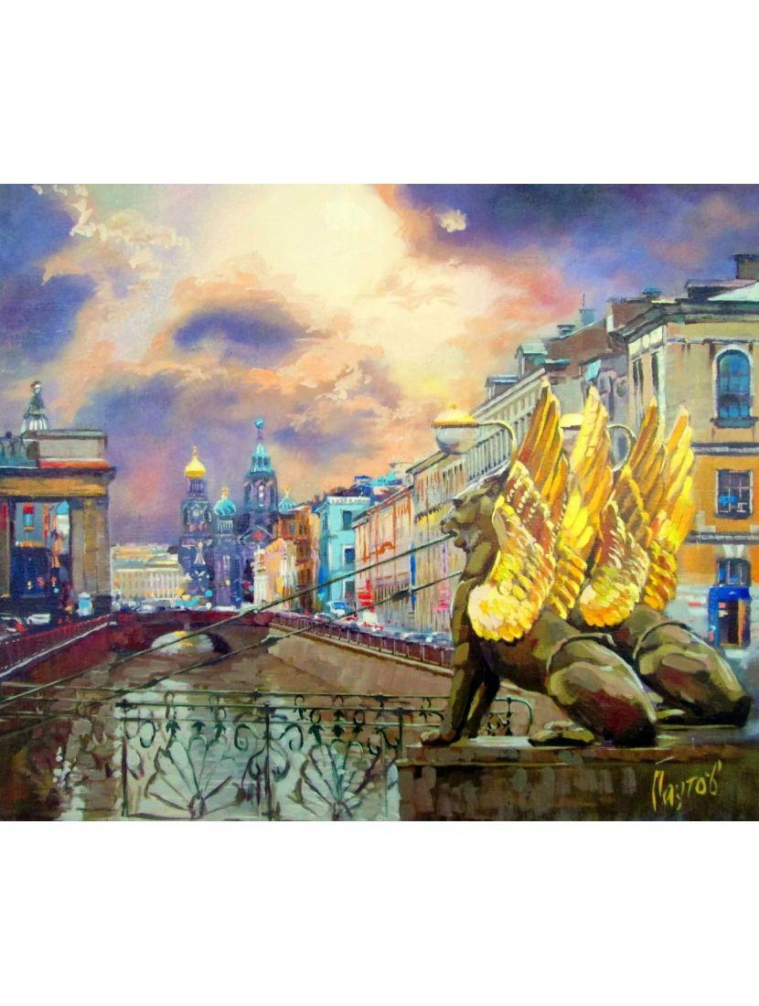 Алмазная мозаика на подрамнике «Восход в Петербурге»
