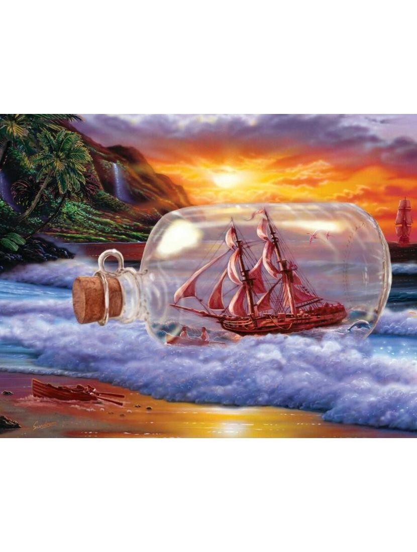 Картина по номерам  на подрамнике «Сон моряка»