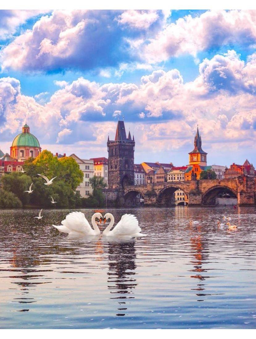 Картина по номерам  на подрамнике «Карлов мост. Прага»