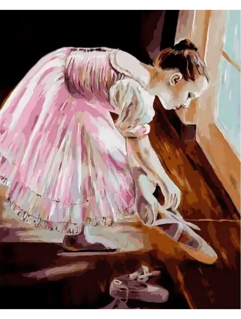 Картина по номерам  на подрамнике «Юная балерина»