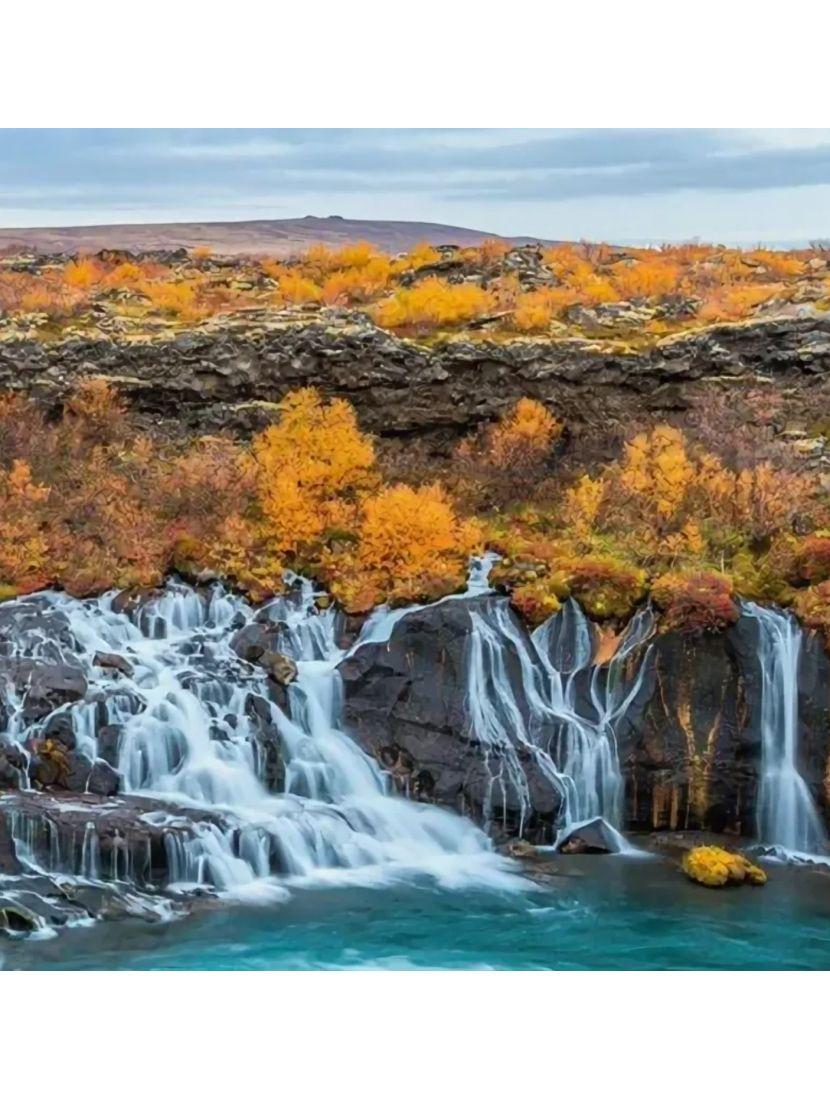 Картина по номерам  на подрамнике «Красота текущей воды»