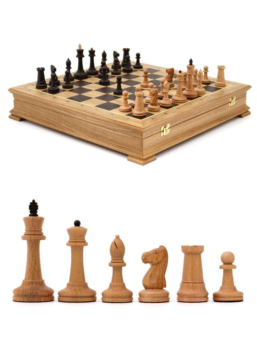 Шахматы «Стаунтон» дуб 45 см