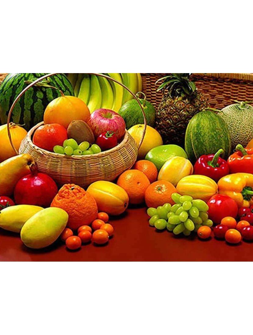 Картина по номерам  на подрамнике «Тропические фрукты»