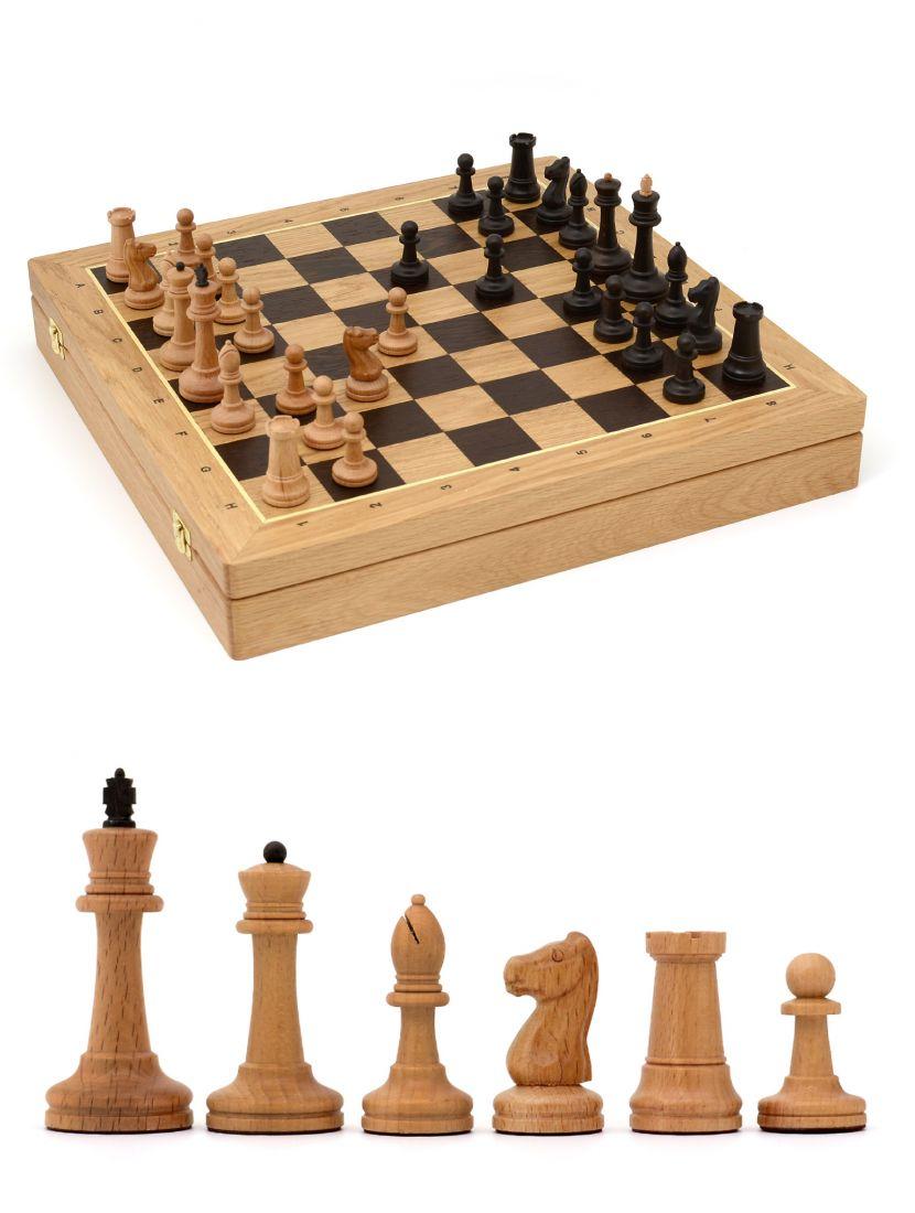 Шахматы «Стаунтон» ларец классический дуб 45 см