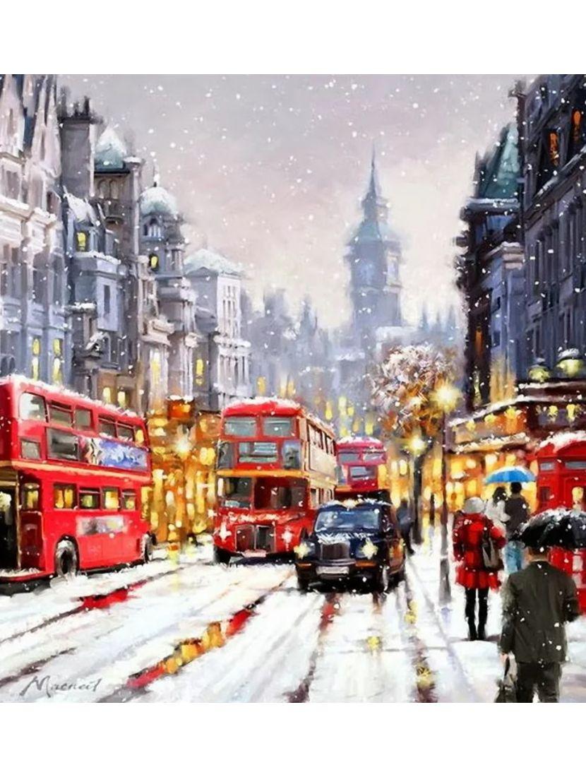 Алмазная мозаика на подрамнике «Чисто английская зима»