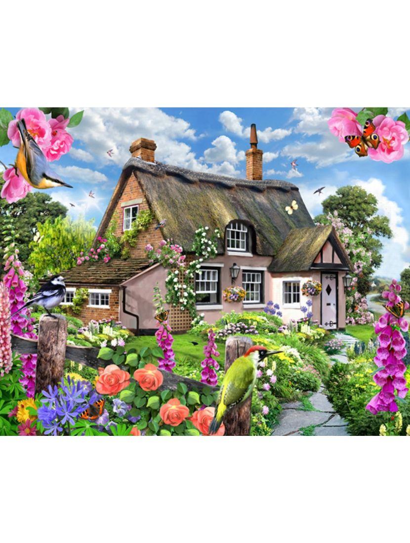 Алмазная мозаика на подрамнике «Уютный дом»