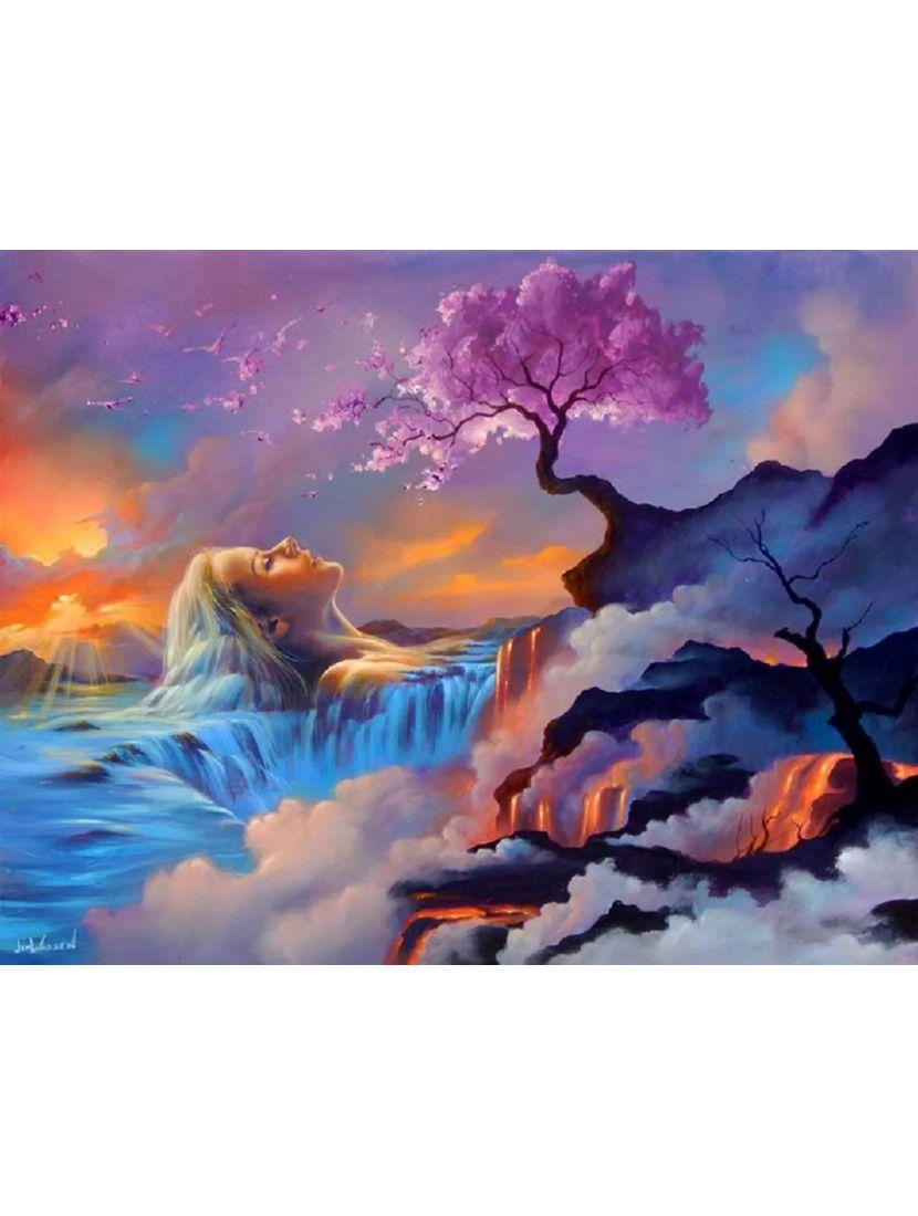 Алмазная мозаика на подрамнике «Душа стихий»