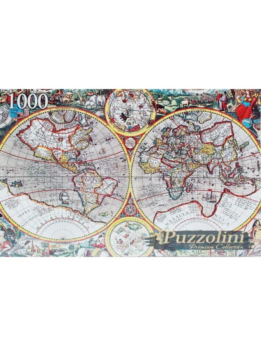Пазл «Древняя карта мира» 1000 элементов