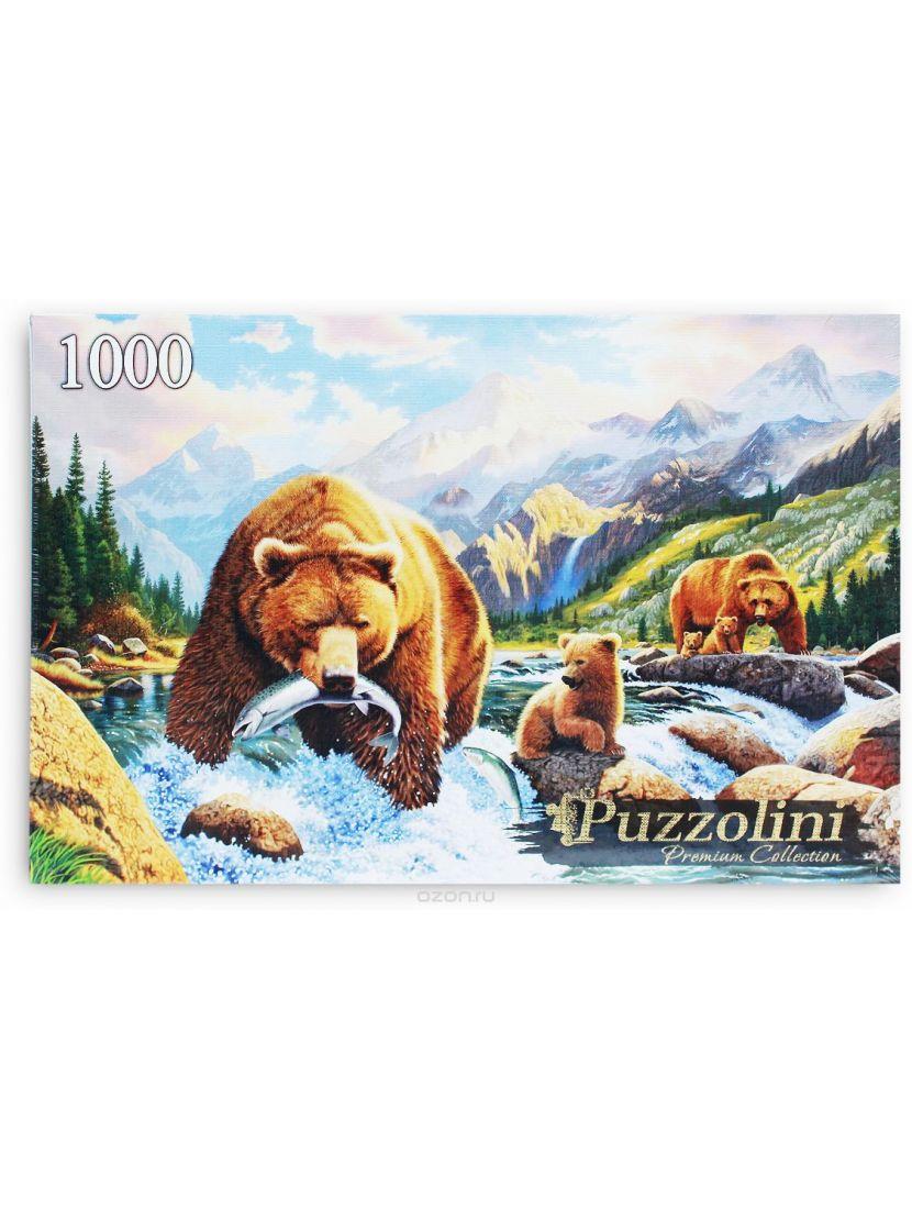 Пазл «Крис Хитт. Медведи на рыбалке» 1000 элементов
