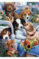 Алмазная мозаика на подрамнике «Собачьи посиделки»